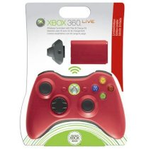 Microsoft Xbox 360 Limited Edition Red Wireless Controller and Play & Charge Kit