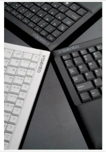 Visenta Wireless Keyboard with Touchpad 2.4 Ghz (White)