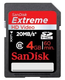SanDisk SDHC Extreme HD Video 4GB (Class 6)