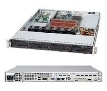 "SuperServer 1025W-UB (Intel Xeon 64-bit Quad Core or Dual Core, DDR2 Up to 64GB, HDD 8 x 2.5"")"