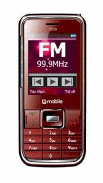 Q-Mobile Q228 Red Silver