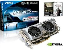 MSI N460GTX Hawk ( Nvidia Geforce GTX 460 1GB GDDR5, 256-bit, PCI Express x16 2.0 )