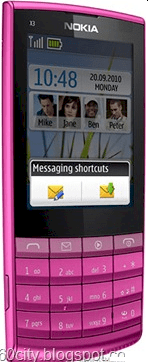 Nokia X3-02 Touch and Type Violet