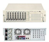 """SuperServer 6033P-8R (Beige) ( Dual Intel Xeon Support up to 3.20 GHz, RAM Up to 16GB, HDD 8 X 3.5"""", 760W )"""