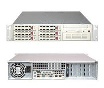 "Supermicro SuperServer 2U 5025M-4+B (Black) (Intel Pentium D/P4, DDR2 Up to 8GB, HDD 6 x 3.5"", 550W)"