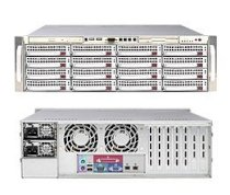 SuperServer 6035B-8R+V (Silver) ( Dual Intel 64-bit Xeon Quad-Core or Dual-Core, RAM Up to 64GB, HDD U320 SCSI with 16 (8+8) Hotswap, 800W)