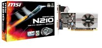 MSI N210-MD1G/D3 ( NVIDIA GeForce 210 , 1024Mb , 64 bits , GDDR3 , PCI Express x16 2.0  )