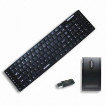 Newmen KM-881RF  2.4GHz Laser Wireless Keyboard and Mouse with Mini USB Receiver, Dustproof and Waterproof Features
