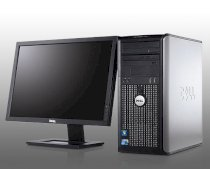 Máy tính Desktop Dell OptiPlex 380 Mini Tower (Intel Core 2 Duo E7600 3.06GHz, RAM Up to 8GB, HDD Up to 320GB, GMA 4500, OS WIN7, Không kèm màn hình )