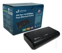Justec JSH500PD 5Port 10/100Mbps Fast Ethernet Switch