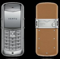 Vertu Constellation brushed steel light-brown skin