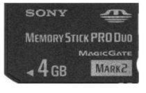 Sony Memory Stick PRO Duo Mark 2 Media (MS-MT4G) 4GB