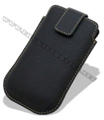 Bao cầm tay iPhone 4 Melkco Leather Case - Oto Holder Type màu đen