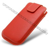 Bao cầm tay iPhone 4 Melkco Leather Case - Oto Holder Type màu đỏ