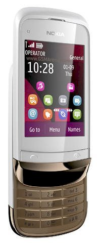 Nokia C2-02 (Nokia C2-02 Touch and Type) Golden White