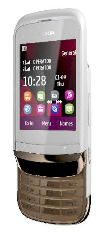 Nokia C2-03 (Nokia C2-03 Touch and Type) Golden White