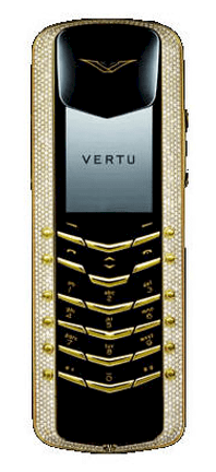 Vertu Signature Diamonds white gold white and yellow diamonds