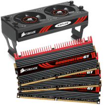 Corsair Dominator GT (CMT6GX3M3A2000C8) - DDR3 - 6GB (3 x 2GB) - bus 1333MHz - PC3 10600 kit - Connector and Airflow II Fan