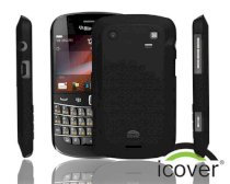 iCover BlackBerry 9900 Rubber (Black)