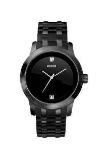 Đồng hồ Guess Watch, Men's Black Ion Plated Stainless Steel Bracelet 38mm U12604G1