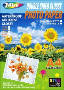 Giấy in ảnh Jade Photo Paper Double side Glossy photo paper A4 5760dpi 300G 20 Sheets