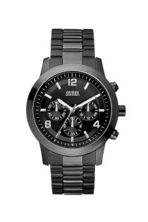 Đồng hồ Guess Watch, Men's Chronograph Bold Contemporary Black Ion Plated Stainless Steel Bracelet 38mm
