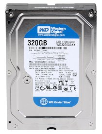 Western Digital Caviar Blue 320 GB - 7200rpm - 16MB Cache - Sata 3 (WD3200AAKX)