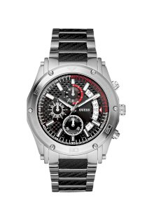 Đồng hồ Guess Watch, Men's Chronograph Stainless Steel and Carbon Fiber Bracelet 46mm U17519G1