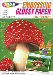 Giấy in ảnh Jade Embossing Glossy Paper hight quality A4 2880dpi 260G 50 Sheets