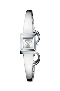 Đồng hồ Gucci Watch, Women's Swiss G-Frame Collection Stainless Steel Bangle Bracelet 40mm YA128511