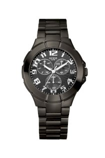 Đồng hồ Guess Watch, Men's Gunmetal Ion Plated Stainless Steel Bracelet 43mm U11511G1
