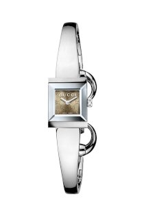 Đồng hồ Gucci Watch, Women's Swiss G-Frame Stainless Steel Bangle Bracelet 44mm YA128510