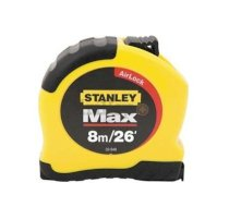 "Stanley MAX 33-948 - 8M/26' x 1"" Tape Measure with AirLock"