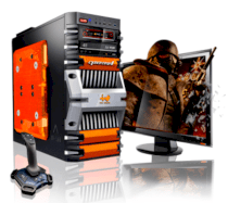 Máy tính Desktop CybertronPC Fortress FX Octa-Core Gaming PC (GM2241G) (AMD FX 8150 3.60GHz, RAM 4GB, HDD 2TB, VGA 2x Radeon HD5450, Microsoft Windows 7 Home Premium 64bit, Không kèm màn hình)