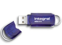 Integral Courier FIPS 197 Encrypted USB 2GB
