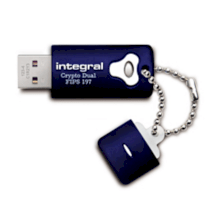 Integral Crypto Dual - FIPS 197 Encrypted USB 8GB