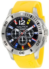 Nautica Men's N18637G Bfd 101 Dive Style Chrono Flag Watch