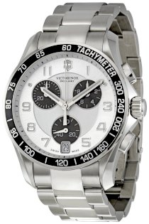 Victorinox Swiss Army Chrono Classic Silver Dial Mens Watch 241495
