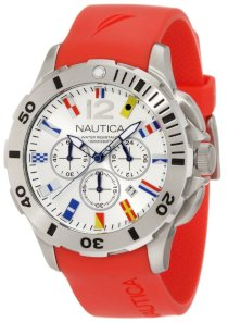 Nautica Men's N18639G Bfd 101 Dive Style Chrono Flag Watch