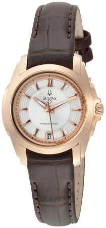 Đồng hồ Bulova Women's 97M104 Precisionist Longwood Rose-Tone Brown Leather