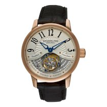 Stuhrling Original Men's 296B.3345X2 Imperial Tourbillion Rose-Tone Black Leather Watch