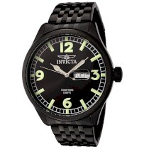 Invicta Men's 0450 II Collection Black Ion-Plated Stainless Steel Watch