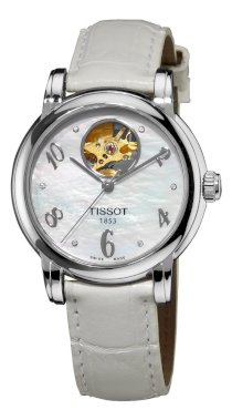 Tissot Women's T0502071611600 Heart Automatic Mother-Of-Pearl Open Dial Watch