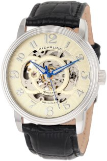 Stuhrling Original Men's 107EM.331531 Classic Delphi Omega Stainless Steel Automatic Skeleton Watch Gift Set