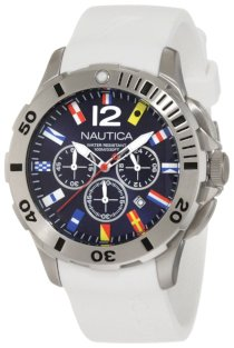 Nautica Men's N18638G Bfd 101 Dive Style Chrono Flag Watch