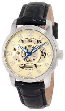 Stuhrling Original Women's 107EL.111531 Classique Delphi Omega Stainless Steel Automatic Skeleton Watch Gift Set