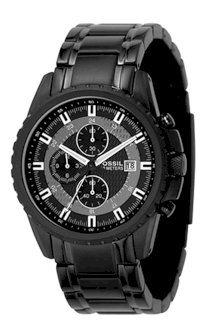 Đồng hồ Fossil Men's CH2473 Black Stainless Steel Bracelet Black Analog Dial Chronograph Watch