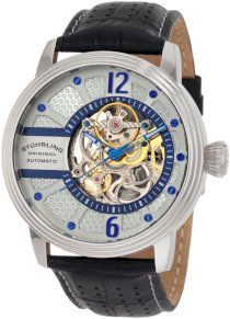 Stuhrling Original Men's 308.331516 Prospero Classic Automatic Skeletonized Silver Dial Watch