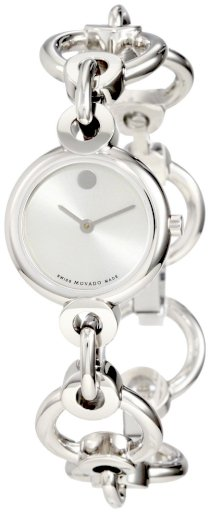 Movado Women's 0606488 Circlo Stainless Steel Silver Museum Dial Bracelet Watch