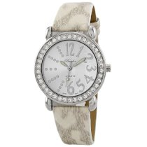 Breda Women's 5151_white White Paige Rhinestone Python Leather Watch